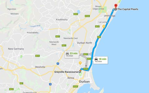 Capital Pearls directions to Greyville