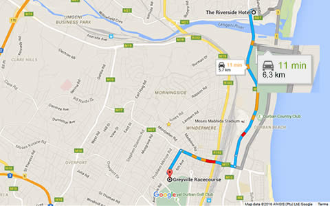 Riverside directions to Greyville